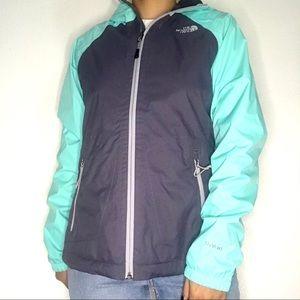 North Face Blue & Gray Rain Jacket